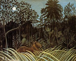 Visual search - Henri Rousseau, Jungle with Lion