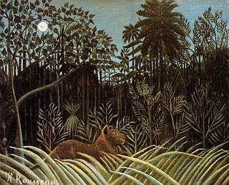 Visual search - Henri Rousseau, Jungle with Lion