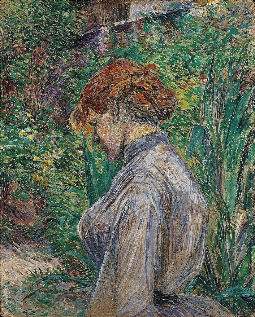 File henri de toulouse lautrec rouge dirig la femme for Jardin foret