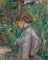 Henri de Toulouse-Lautrec - Rouge dirigé la femme dans le jardin de Monsieur Foret.jpg