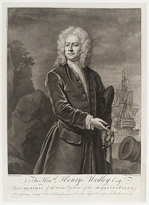 Henry Medley - Henry Medley, 1745 engraving by John Faber the Younger after John Ellys