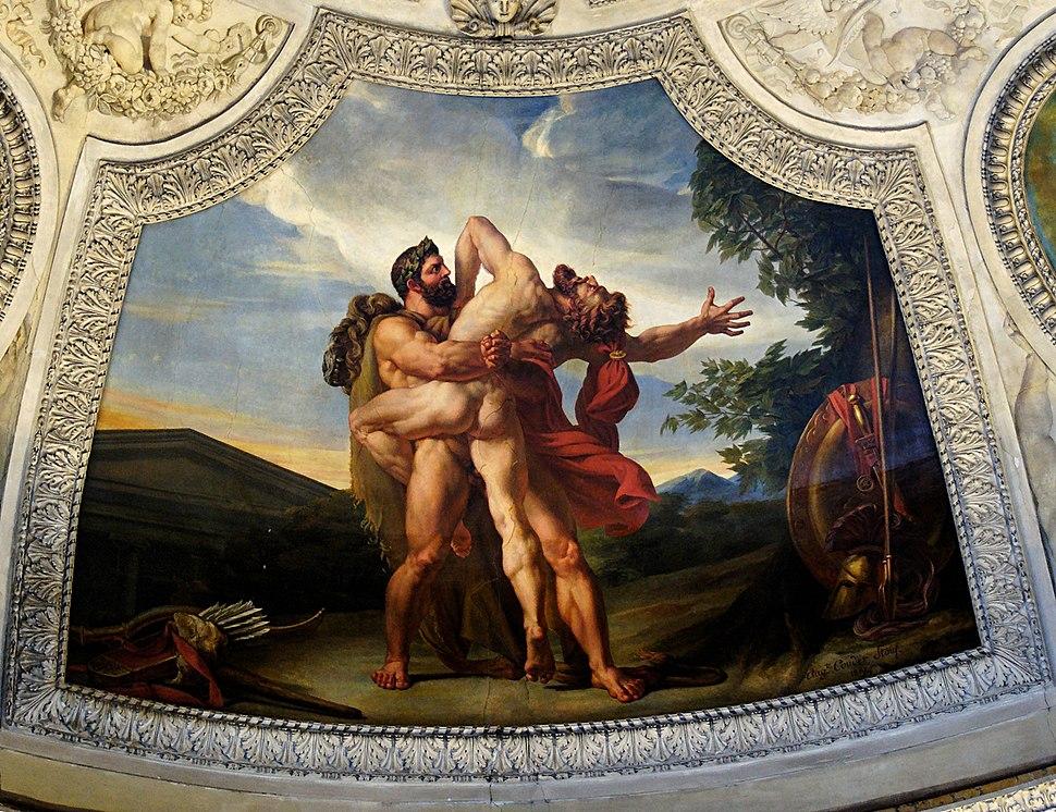 Herakles Antaeus Couder decoration Louvre INV3378