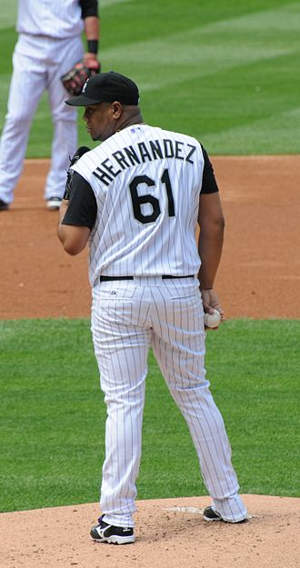 Liván Hernández - Hernández with the Rockies in 2008.