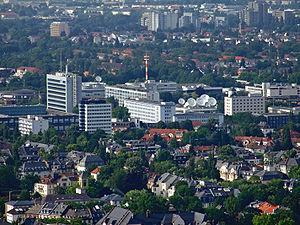Hessischer Rundfunk - Hessischer Rundfunk with ARD-Sternpunkt in Frankfurt