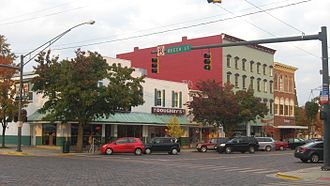 Oxford, Ohio - Buildings along High Street in Uptown Oxford