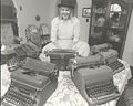 Hilary Surrounded By Family TypeWriters.jpg