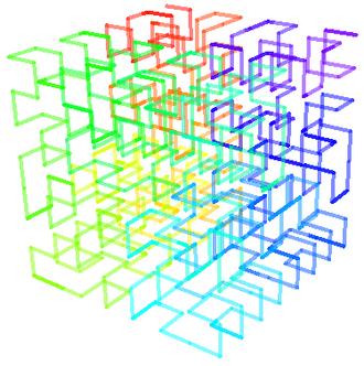 Hilbert curve - Image: Hilbert 3d step 3