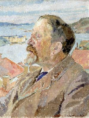 Hjalmar Lundbohm - Hjalmar Lundbohm painted by Carl Wilhelmson.