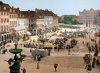Højbro Plads - The square c. 1890.