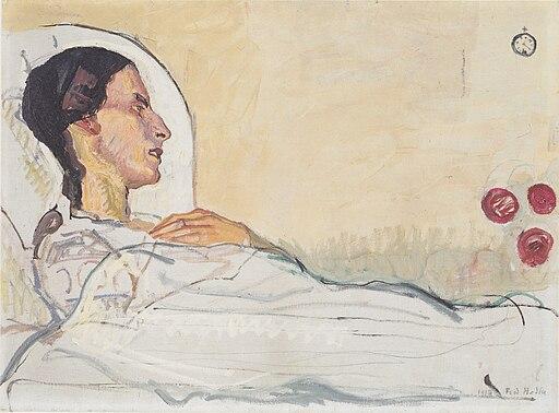 Hodler - Valentine Godé-Darel im Krankenbett - 1914