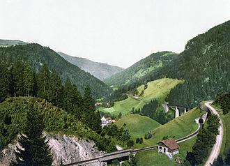Höllentalbahn (Black Forest) - Image: Hoellentalbahn 1900
