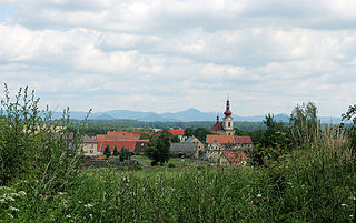 Holany Market town in Liberec, Czech Republic