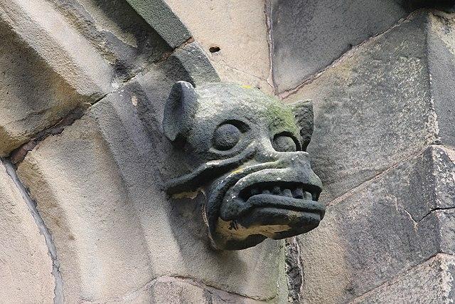 Gargoyle on All Saints' Church in Gresford, Wales