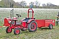 Home-made garden tractor with trailer.JPG
