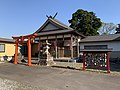 Honden, Otomo Inari Shrine, Shibata, Niigata, Japan, April 2021.jpg