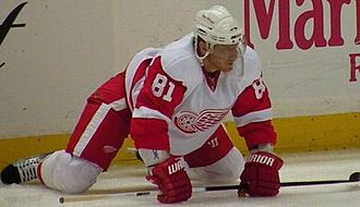 Marián Hossa - Hossa with the Detroit Red Wings in 2009