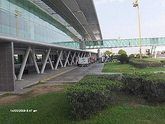 Culiacán International Airport - Airport's main corridor.