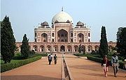 Humayun's Tomb is one of Delhi's most famous landmarks. The monument has an architectural design similar to the Taj Mahal.