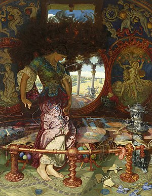 Edward Robert Hughes - Holman Hunt's Lady of Shalott, 1889-1892, with the assistance of Hughes.