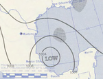 Hurricane Gladys analysis 5 Sep 1955.png