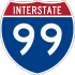 Interstate 99 marker