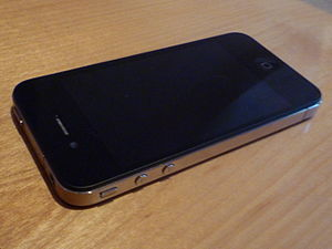 The top and sides on an iPhone 4.