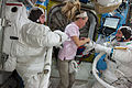 ISS-36 EVA-2 a Cassidy, Nyberg and Parmitano in the Quest airlock.jpg