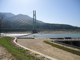 Karnali Bridge - side view