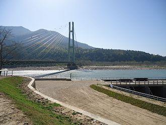 Karnali Bridge -  side view