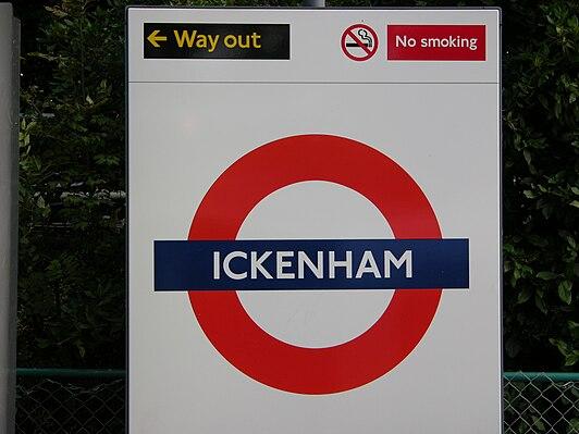 Ickenham tube station