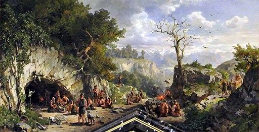 Idealbild aus der Steinzeit - Höhlenbewohner (Darnaut)