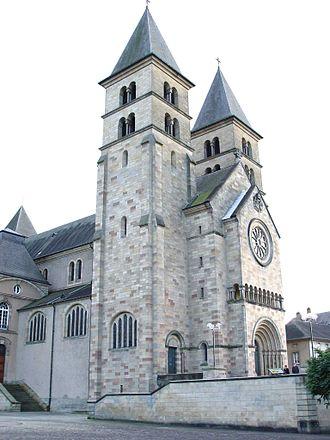 Abbey of Echternach - The modern basilica in Echternach.