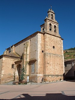 The church of Arcos de Jalón