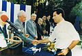 Ilan Arbel receives the Israel Defense Award from Defense Minister Yitzhak Rabin.JPG