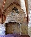 Im frühen 14. Jahrhundert schuf Rudolphus von Wimpfen die Fresken in der Marienkirche. Detail Seitenkapelle.jpg