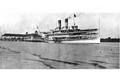 Image of a large Great Lakes passenger vessel, from Curwood's 1909 The Great Lakes -ap.png