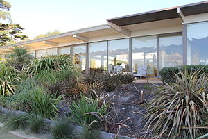Simon House, Mount Eliza - perspective view of outside terrace