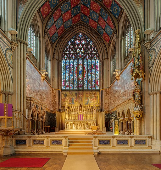 Immaculate Conception Church Altar, Farm Street, London, UK - Diliff