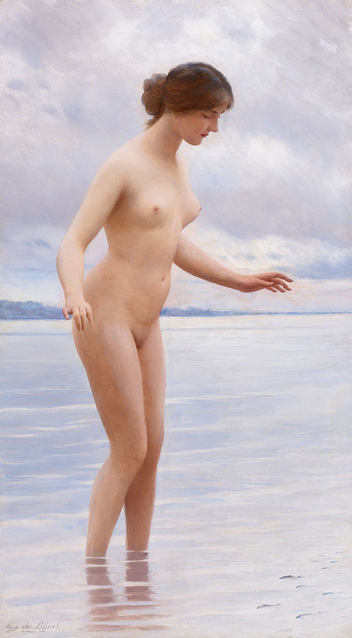 In the Water by Eugen von Blaas (1843-1931)