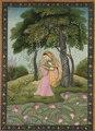India, Pahari Hills, Kangra school, late 18th-early 19th Century - Virhini Nayika, Love-Torn Heroine - 1989.335 - Cleveland Museum of Art.tif