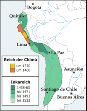The Inca Empire at the time of its greatest expansion
