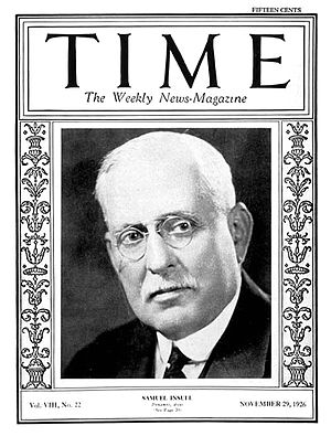 Samuel Insull - Insull on the cover of Time,  November 1926