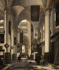Intérieur d'une église gothique protestante