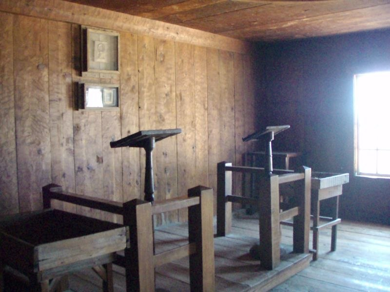 Interior of Fort Ross Chapel