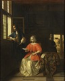 Interior with a Young Lady Reading a Letter (Pieter de Hooch) - Nationalmuseum - 17474.tif