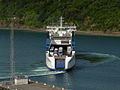 Interislander ferry Aratere docking at Picton, New Zealand - 19 Feb. 2011.jpg