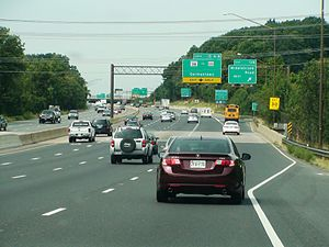 Interstate 270 (Maryland) - I-270 northbound in Germantown in September 2013.