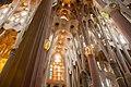 Intricate ceiling in the Sagrada Familia.jpg