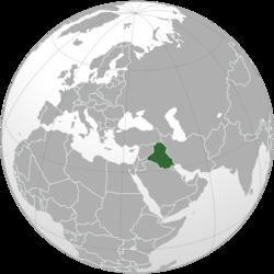 Ubicación de Irak