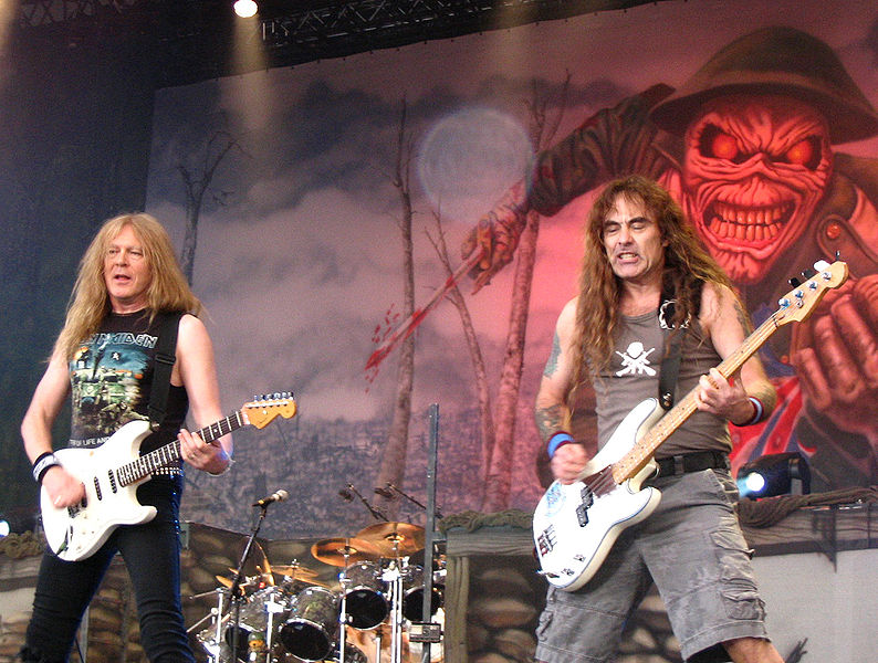 Iron Maiden with Eddie